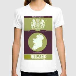 Vintage Ireland Map navigation poster. T-shirt