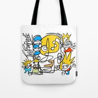 simpsons Tote Bags featuring Simpsons by Ray Kane
