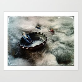 House Disaster Art - Lifeboat Art Print