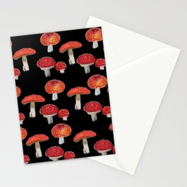 Red Mushrooms Pattern  Stationery Cards