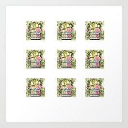 Secret garden tiny prints Art Print
