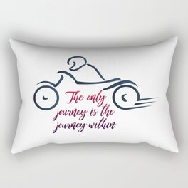 Biker inspirational quotes with abstract bike Rectangular Pillow