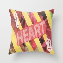 I Heart U. Throw Pillow