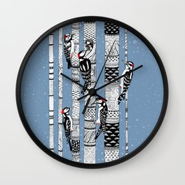 Woodpeckers Wall Clock