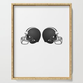 Two Helmets American Football Design Serving Tray