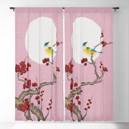 Plum blossoms, bird, and the moon Type G (Minhwa: Korean traditional/folk art) Blackout Curtain