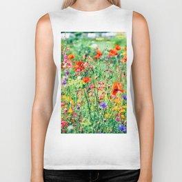 The Wild Flowers (Color) Biker Tank