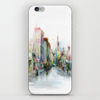 street iPhone & iPod Skins featuring street by tatiana-teni
