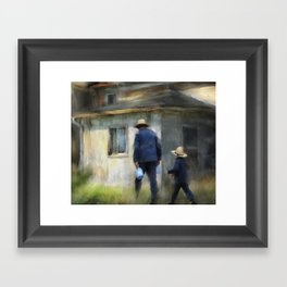 follows in his footsteps Framed Art Print