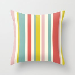 Candy Stripe Pattern Throw Pillow
