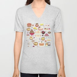 Patisserie Cakes and Good Things Unisex V-Neck