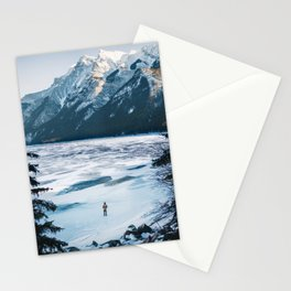 Winter at Lake Minnewanka Stationery Cards