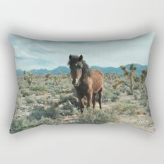 Nevada Desert Horse Rectangular Pillow