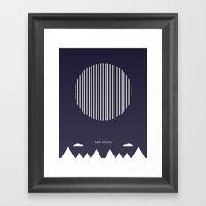 New Moon - Moon Phases Framed Art Print