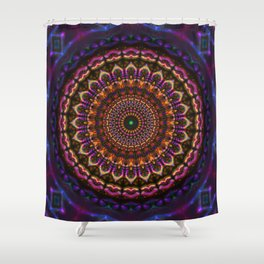 Union Crown Mandala Shower Curtain