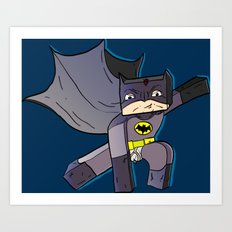 The Blocky Knight - Minecraft Avatar Art Print
