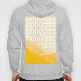 Abstract Geometric 006 - mustard yellow & white Hoody