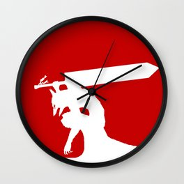Berserk red moon armor Wall Clock