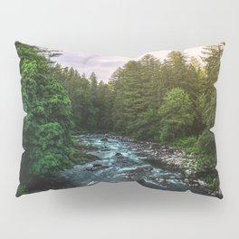 PNW River Run II - Pacific Northwest Nature Photography Pillow Sham