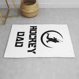 Hockey Funny Dad Men Fathers Day Gifts Rug