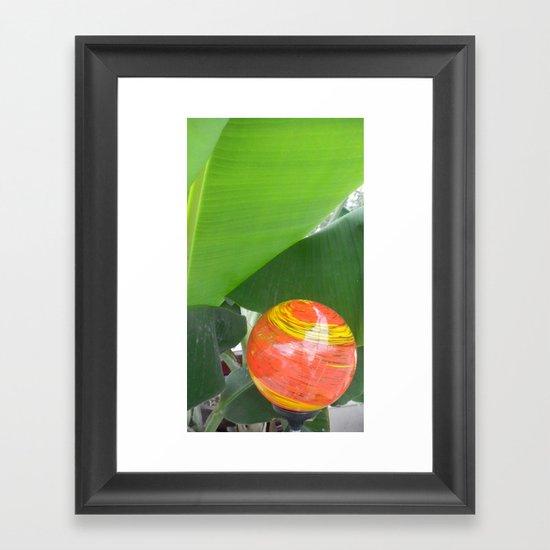 Big Orange Framed Art Print