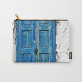 Blue Shuttered Window in Mykonos island in Greece Carry-All Pouch