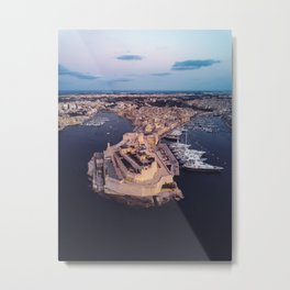 The Three Cities | Malta Metal Print