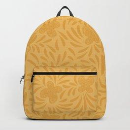 Yellow swirl butterflies pattern Backpack