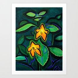 Orange Jewelweed 2.0 Art Print