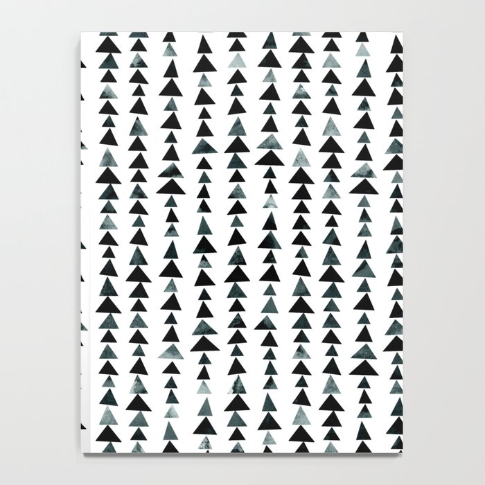 Black Triangles Pattern 02 Notebook