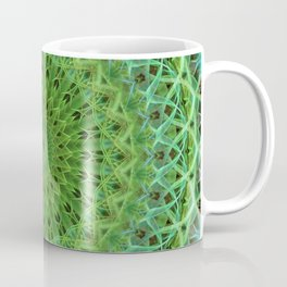 Mandala with light and dark green ornaments Coffee Mug