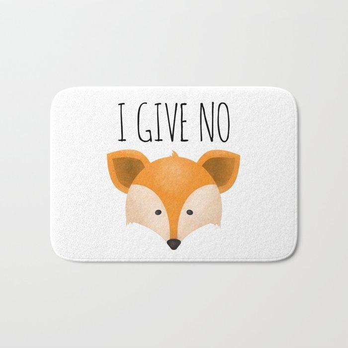 I Give No Fox Bath Mat