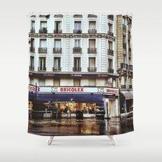 Rain in Paris Shower Curtain