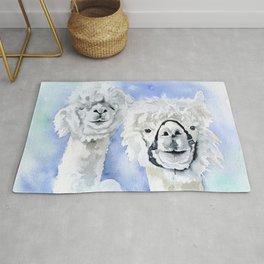 Alpacas Watercolor Rug