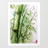 bamboo Art Prints featuring Bamboo by rchaem