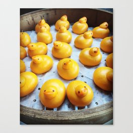 Dump Ling Duck Canvas Print