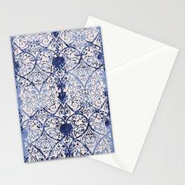 Bleu Vintage Oriental Moroccan Carpet Stationery Cards