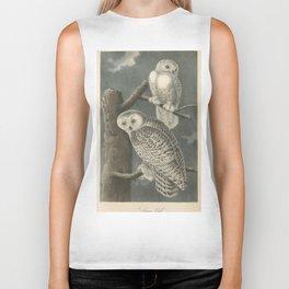 Vintage Illustration of Snowy Owls (1840) Biker Tank