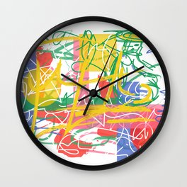 Waiting for the fish Wall Clock