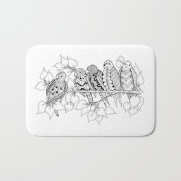 NOT Angry Birds - Zentangle Illustration Bath Mat