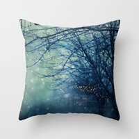 silent Throw Pillows featuring Silent Night  by Laura Ruth