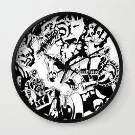 Doktor Steampug- Black and White Wall Clock