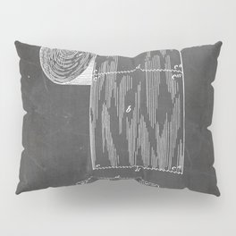 Toilet Paper Patent - Bathroom Art - Black Chalkboard Pillow Sham