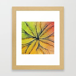 Doodled Aura-Leah Digitized Macro Framed Art Print