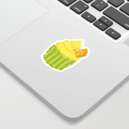 Lemon Orange Cupcake Sticker