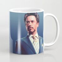 robert downey jr Mugs featuring R. Downey Jr. **** by Hands in the Sky