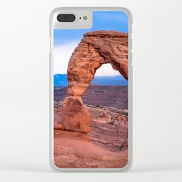 Delicate - Delicate Arch Glows on Rainy Day in Utah Desert Clear iPhone Case