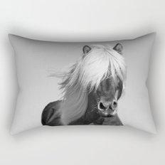 Portrait of a Horse in Scotish Highlands Rectangular Pillow