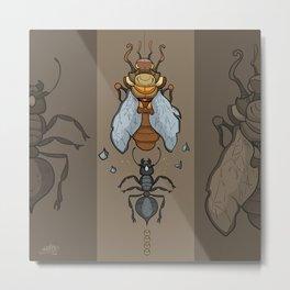 La cicala e la formica Metal Print