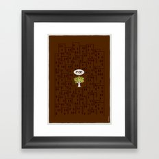 The F Situation Framed Art Print